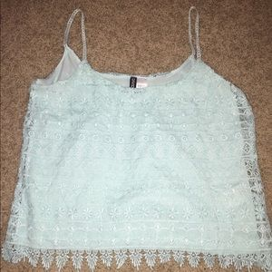 Light blue crop top from H&M